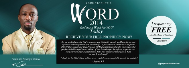 Receive Your Free Prophecy Now