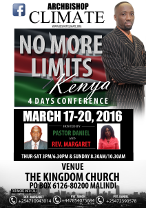 Archbishop Climate NO MORE LIMITS (KENYA) 2016 (1)