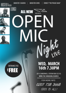 OPEN MIC NIGHT LIVE