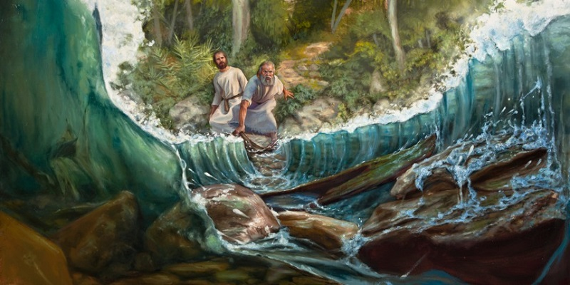 Prophet Climate parting River Jordan